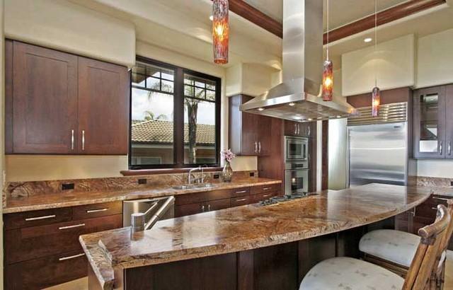 Maui Estate Kitchen tropical-kitchen