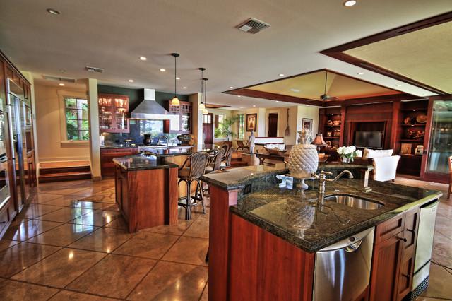 Island style kitchen photo in Hawaii