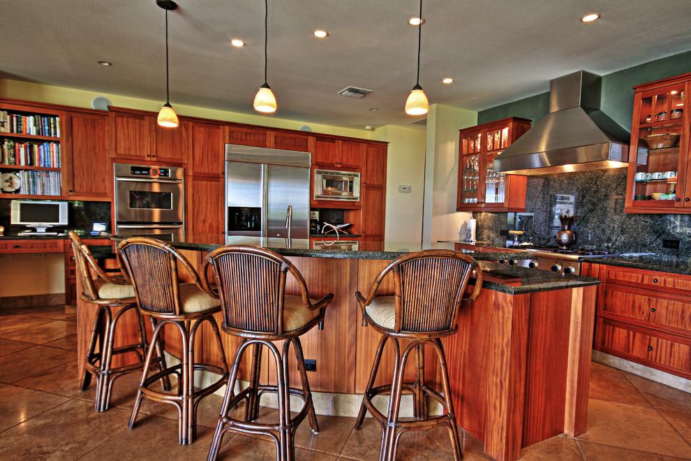 Kitchen - tropical kitchen idea in Hawaii