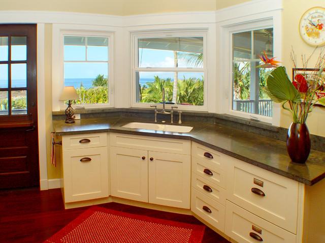 Maui Plantation Kitchen beach-style-kitchen