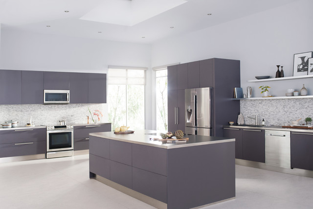 Mauve samsung kitchen contemporary kitchen other for Mauve kitchen walls