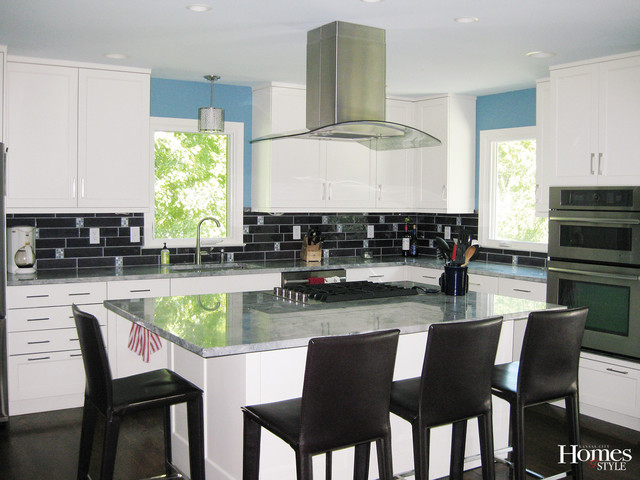 Maximizing A Small Space Modern Kitchen Kansas City By Kansas City Homes Style Magazine
