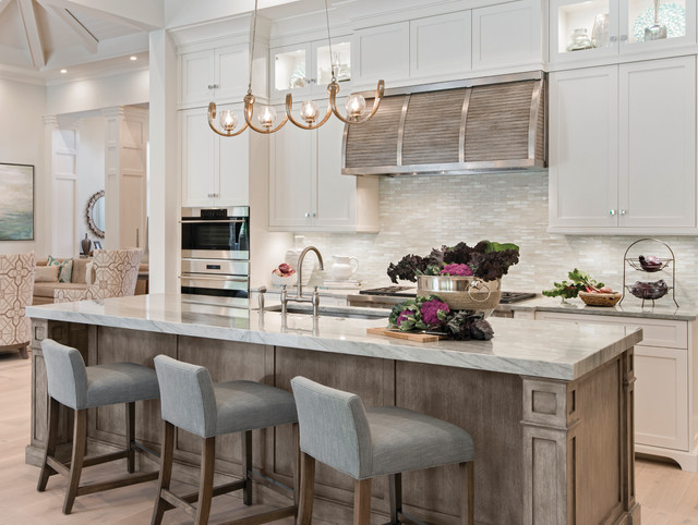 Superbe Transitional Kitchen Inspiration   Transitional Light Wood Floor Kitchen  Photo In Miami With An Undermount Sink