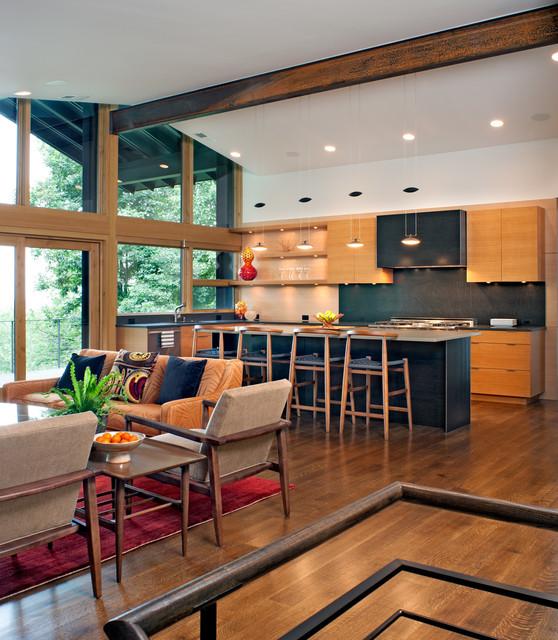Contemporary Kitchen Floors: Mayflower Renovation