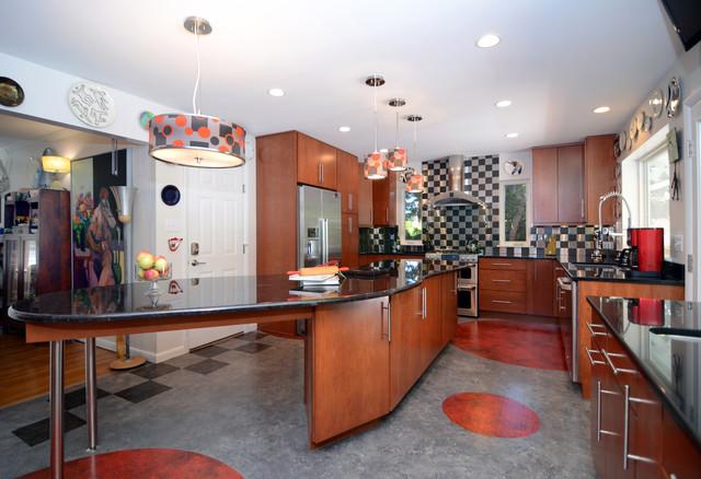 McLean, VA Retro Kitchen Remodel eclectic-kitchen