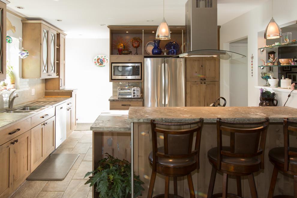 McLean Virginia Kitchen Design with unique Poured Concrete ...