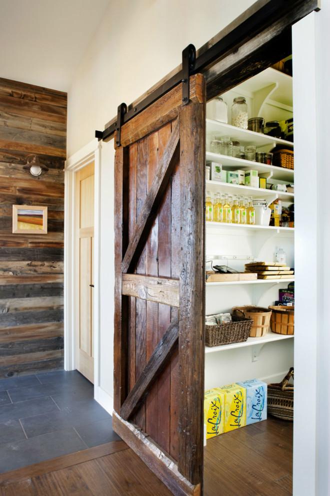 Kitchen - rustic kitchen idea in Denver