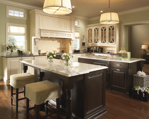 kitchens with cream colored cabinets colored cabinets and different countertops 8783