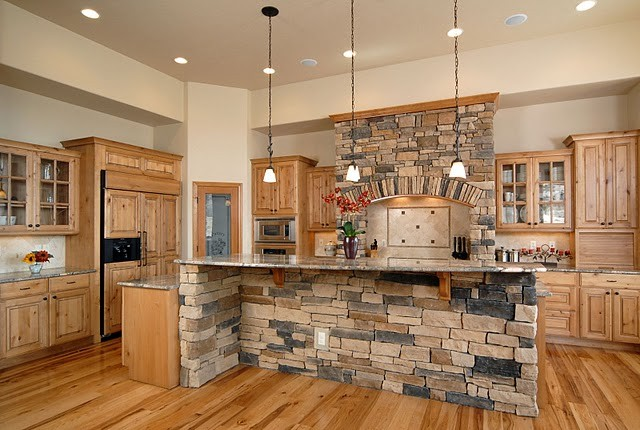 Medallion taos rustic contemporary kitchen denver - Modern rustic kitchen cabinets ...