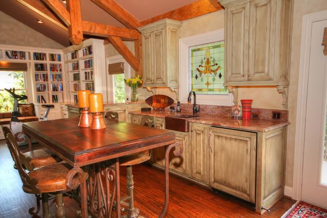 Media Room traditional-kitchen