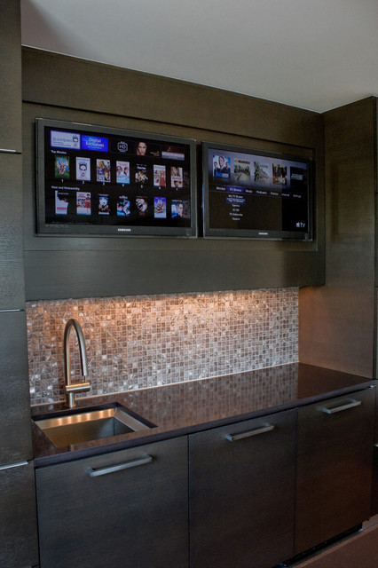 Media Rooms contemporary-kitchen