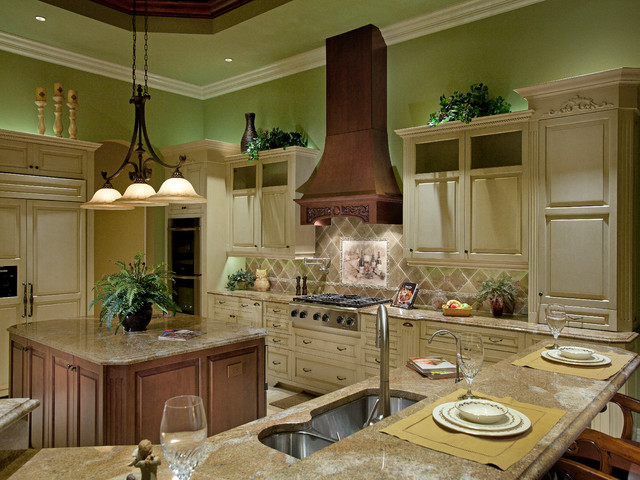 Mediterranean Golf Course Home Mediterranean Kitchen Miami By Weber Design Group Inc