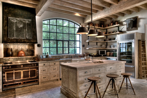Rustic Kitchen By Houston Home Builders Allan Edwards
