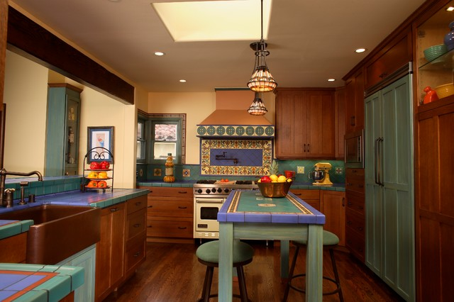 California Spanish Home Remodel - Mediterranean - Kitchen - Orange ...