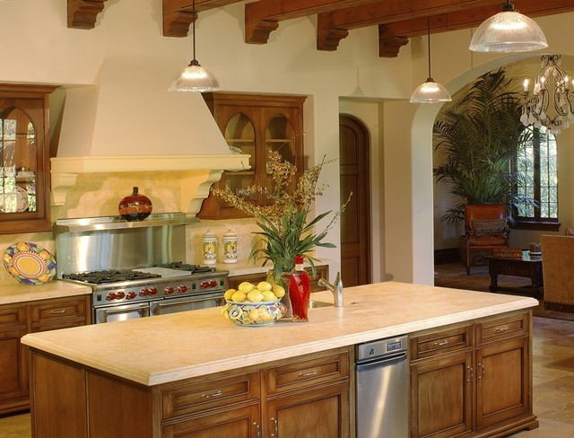 Mediterranean kitchens santa barbara for Santa barbara kitchens