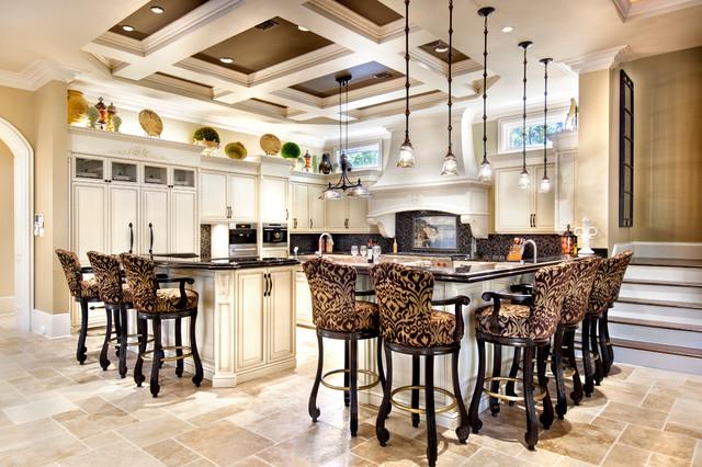 Mediterranean luxury estate transitional kitchen new for Elegant residences kitchens