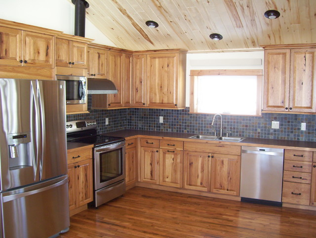 Medium Sized Kitchens Rustic Kitchen Denver By
