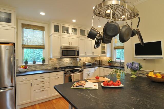 Melrose Street, Newton MA transitional-kitchen
