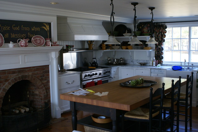 Menefee Restoration Country Kitchen Portland Maine By Olde House Builders Bill Allen