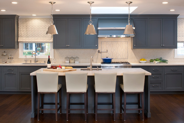 Contemporary Grey Kitchen menlo park grey kitchen - contemporary - kitchen - san francisco