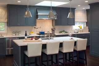 Menlo park grey kitchen contemporary kitchen san for Deep space benjamin moore