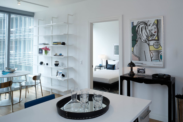 Mercedes house midtown modern interior design 1 bedroom for Modern 1 bedroom apartments