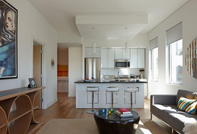 Elegant Example Of A Minimalist Kitchen Design In New York