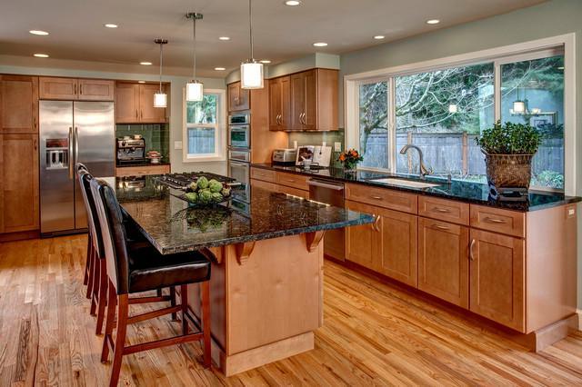 Mercer island kitchen expansion contemporary kitchen for Modern kitchen cabinets seattle