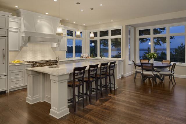 Kitchen Island Nook mercer island kitchen nook - traditional - kitchen - seattle -