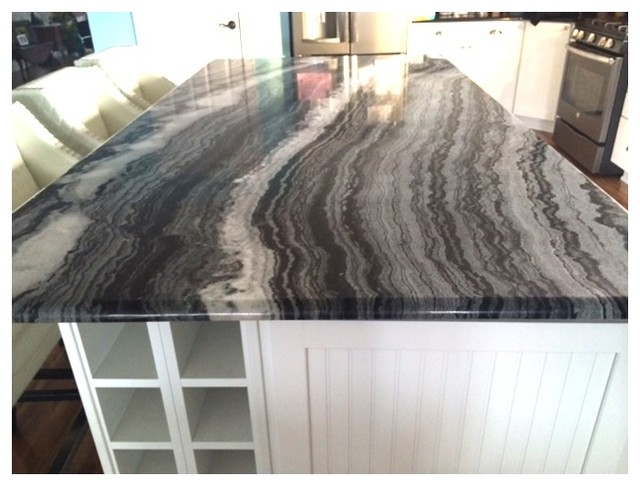 Mercury Black Quartzite Countertop