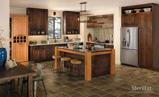 Merillat 174 Classic Tolani In Oak Pecan Rustic Kitchen