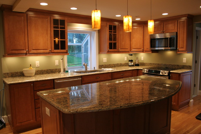 Merillat Labelle Toffee Maple Traditional Kitchen Boston By