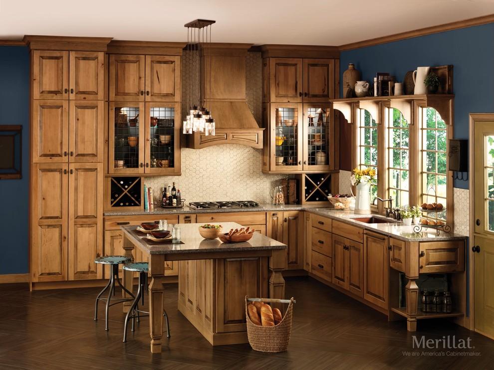 Merillat Masterpiece Cimmaron Rustic Maple Husk Traditional Kitchen Detroit By Merillat Houzz