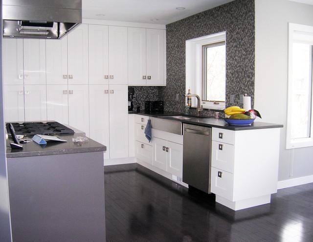 Merit kitchens calgary snow kitchen contemporary kitchen for Kitchen cabinets calgary