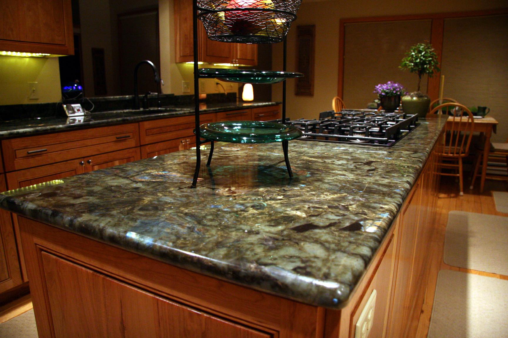Green Granite Kitchen Counter Houzz