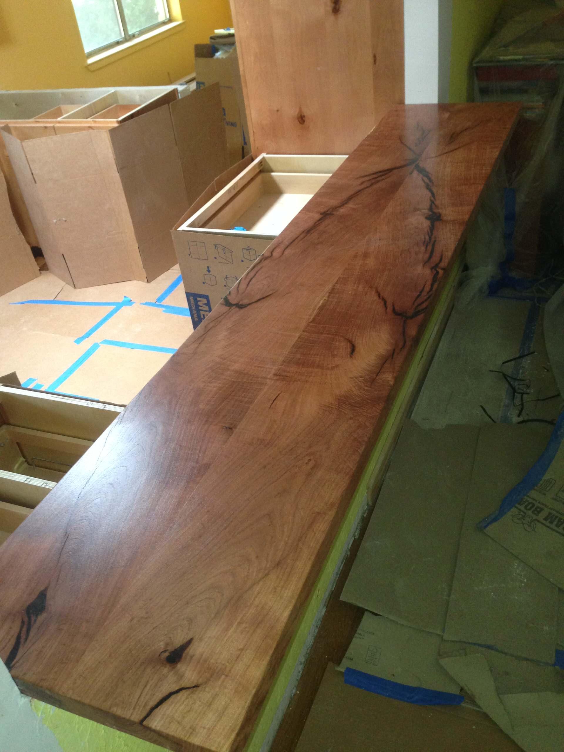 Mesquite counter top