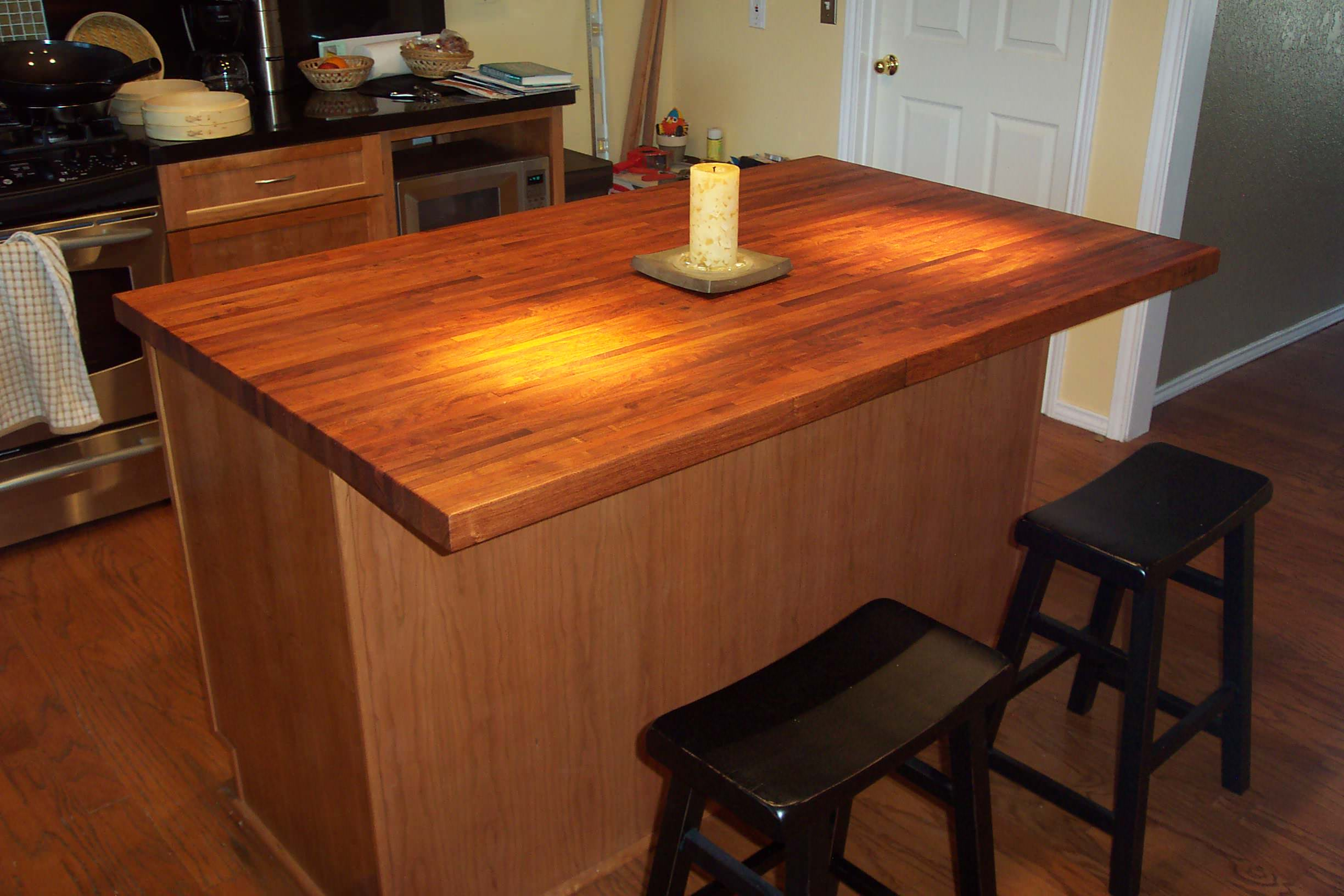 Mesquite Edge Grain Wood Center Island