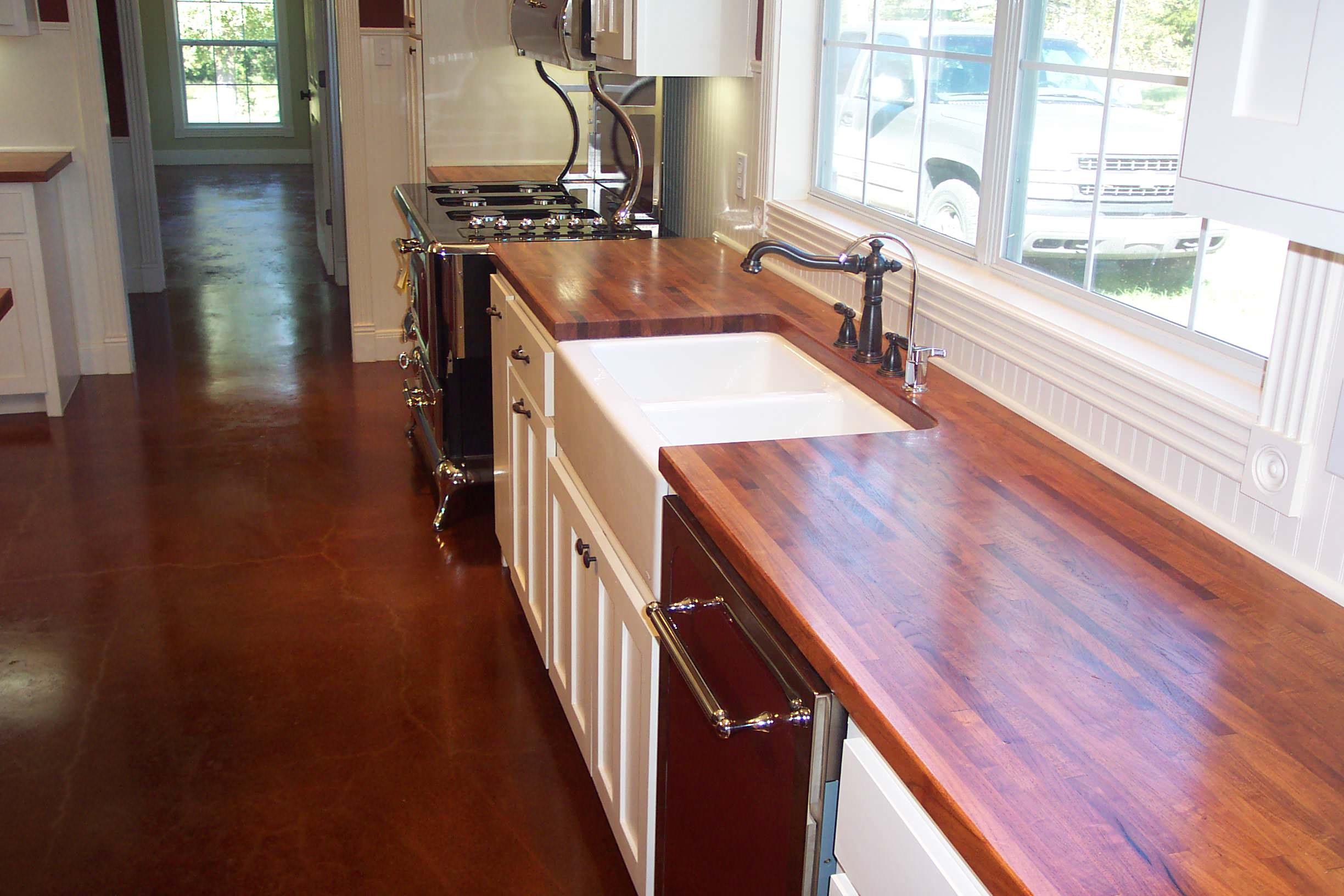 Mesquite Edge grain wood counter tops