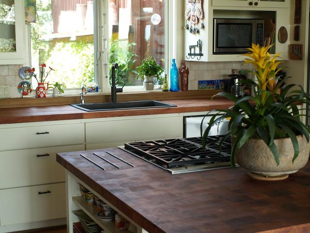 Mesquite End Grain Tiles By Devos Woodworkingeclectic Kitchen Austin