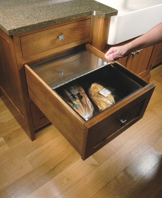 Metal Bread Drawer Insert Craftsman Kitchen