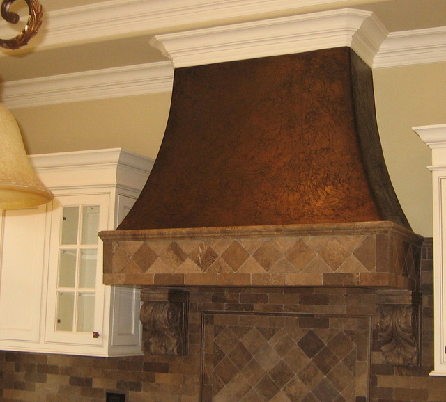 Nice Metallic Textured Range Hood