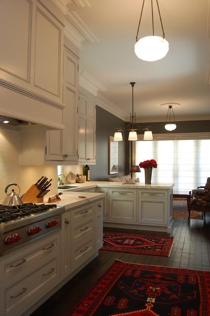 Cabbagetown victorian rowhouse kitchen traditional for Traditional victorian kitchen designs