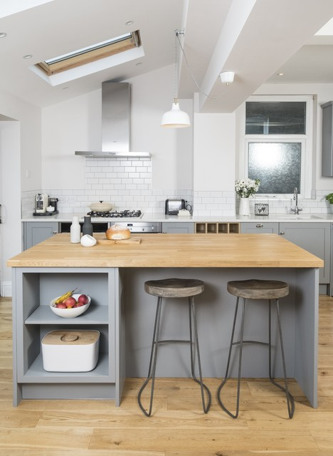 Metro grey  Farmhouse  Kitchen  Cardiff  by Chalkhouse Interiors