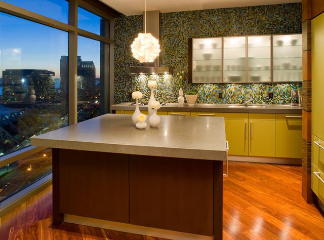 Metropolitan Condo Contemporary Kitchen San Diego by Robin