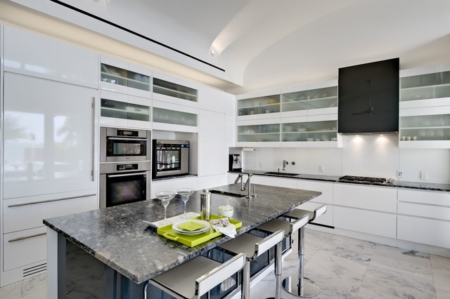 Miami Beach Dream Contemporary Kitchen Miami By Marmiro Stones Inc