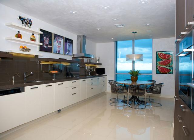 Miami Beach Penthouse Contemporary Kitchen Miami By Betsy Lynn Interior Design