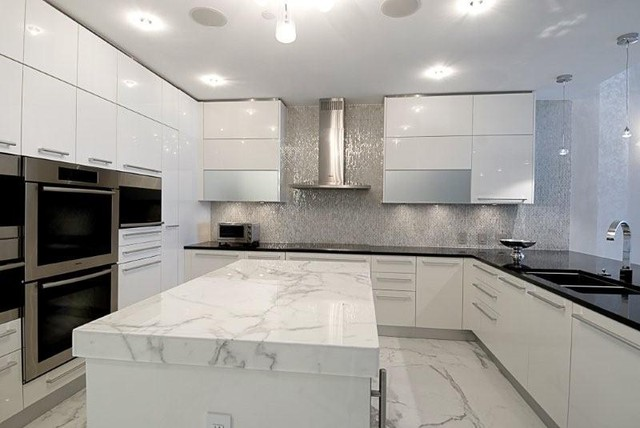 miami luxury condo contemporary kitchen