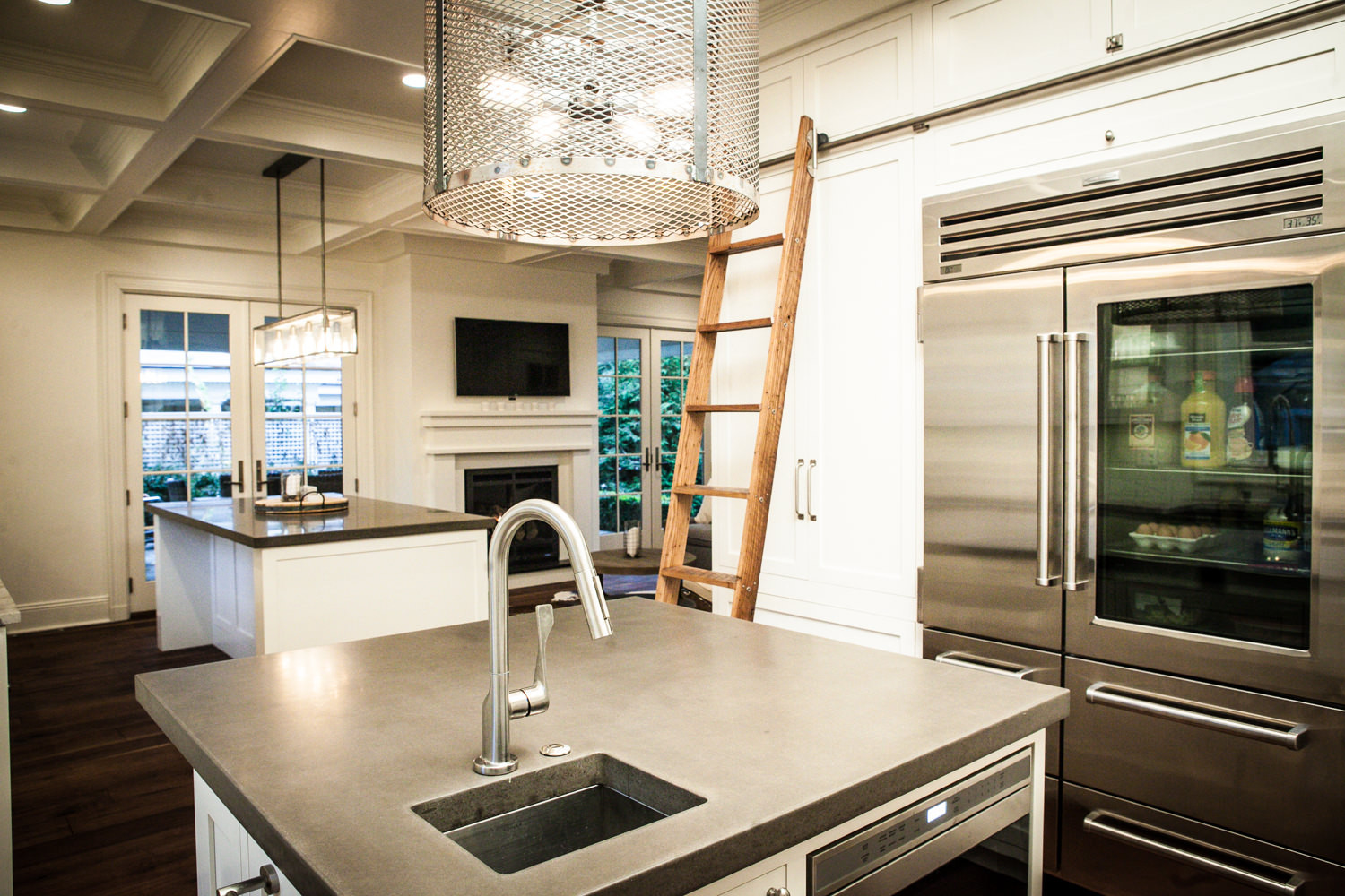 Custom cabinetry by Michael Lucci