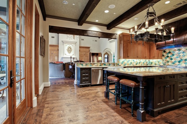 Tuscan Kitchen Photo In Dallas With Multicolored Backsplash. Email Save.  Michael Molthan Luxury Homes Interior Design Group