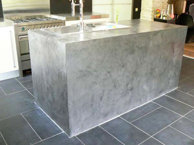 Micro Screed Decorative Waxed Concrete Flooring Walls Staircases London  Contemporary Kitchen